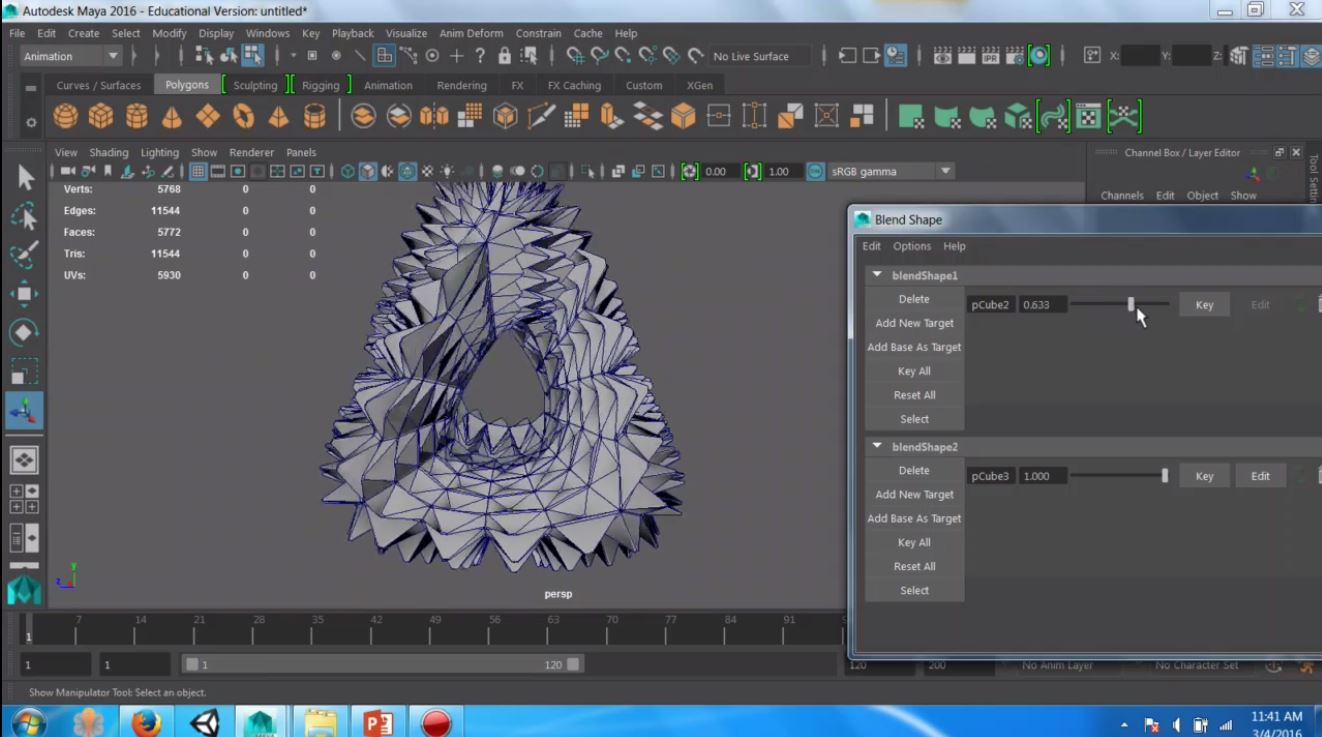 Protected: Blend Shape, Animation snapshot